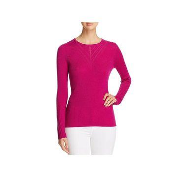 Elie Tahari Womens Noeleen Pullover Sweater Merino Wool Ribbed