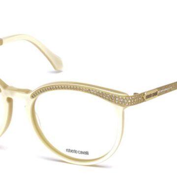 Roberto Cavalli RC 0965 SHAM 025 Womenas Glasses White Size 54 - Free Lenses - HSA/FSA Insurance - Blue Light Block Available