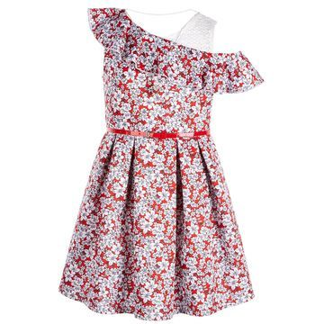 Big Girls Ruffle Skater Dress
