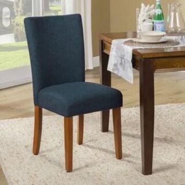 HomePop Classic Parson Dining Chair -Set of 2 (Dark Blue)