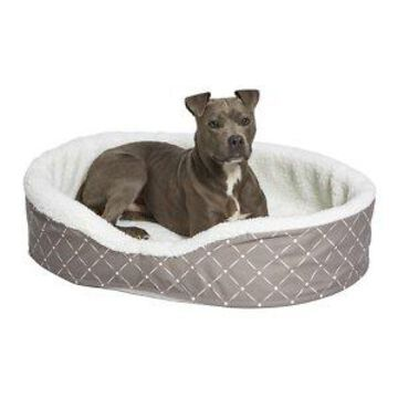 MidWest Cradle Nesting Orthopedic Bolster Cat & Dog Bed w/Removable Cover, Mushroom/White, Medium