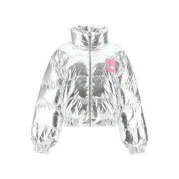 Chiara Ferragni Metallic Nylon Down Jacket