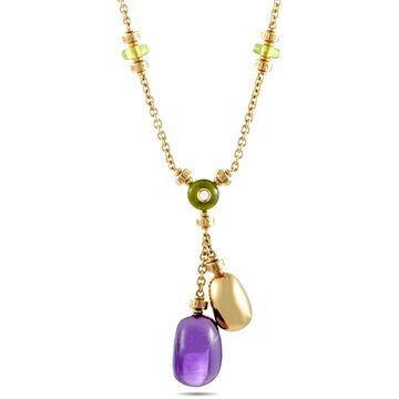 Bvlgari Yellow Gold Multi-Gemstone Cabochons Necklace