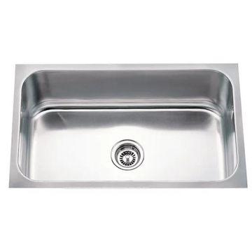 Hardware Resources 18 Gauge Stainless Steel Undermount Utility Sink