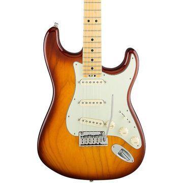 Fender American Elite Stratocaster Maple Fingerboard Electric Guitar Tobacco Sunburst