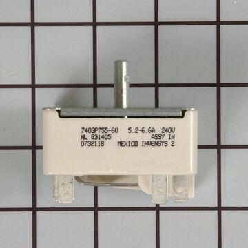 Amana Range/Stove/Oven Part # WP74007840 - Surface Element Switch - Genuine OEM Part