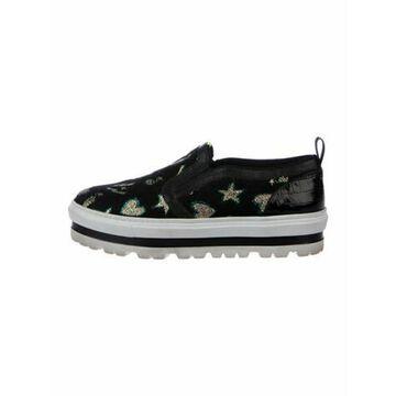 Msgm Embossed Sneakers Black Msgm Embossed Sneakers
