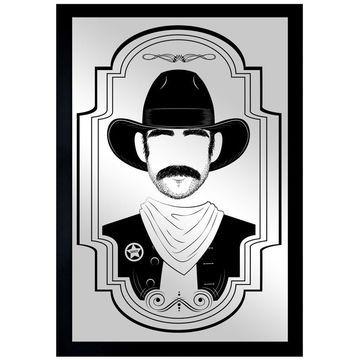 Oliver Gal 'Cowboy' Mirror - Grey