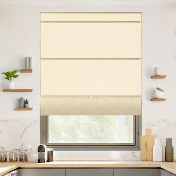 Chicology Cordless Magnetic Roman Shade, Lt Brown, 48X64