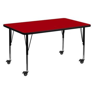 Flash Furniture Activity Table, Red