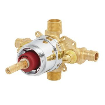 Speakman CPV-PB-PXE Sentinel Mark II Pressure Balancing Shower Valve with Cold-Expansion Inlet Connections Rough Brass Showers Shower Valves 1/2 Inch