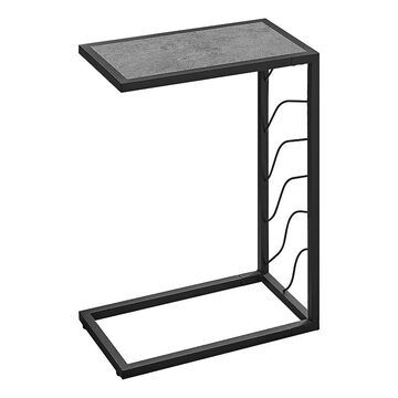 Monarch C-Shape Accent End Table, Grey