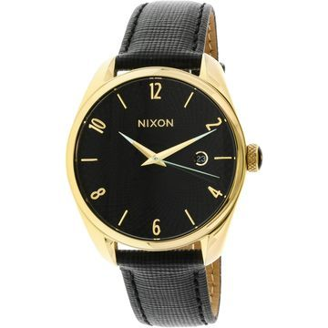 Nixon Women's Bullet Leather A473513 Gold Japanese Quartz Fashion Watch