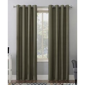 """Sun Zero Duran Thermal Insulated Blackout Grommet Curtain Panel, 63"""" L x 50"""" W"""