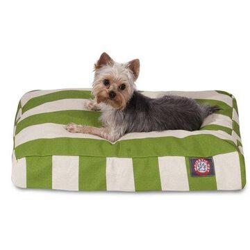 Majestic Pet Vertical Stripe Rectangle Dog Bed Treated Polyester Removable Cover Sage Small 27