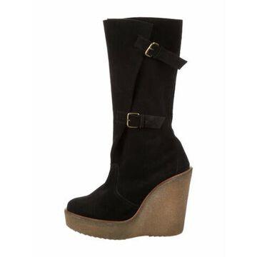 Vegetarian Suede Boots Black