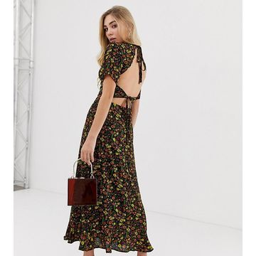 Fashion Union open back midi dress in floral