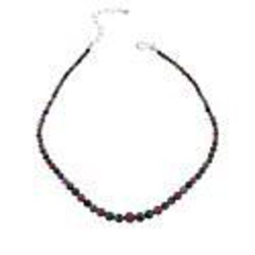 Mine Finds by Jay King Sterling Silver Sapphire and Emerald Bead Necklace