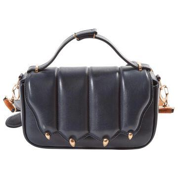 Marco De Vincenzo Navy Leather Handbags
