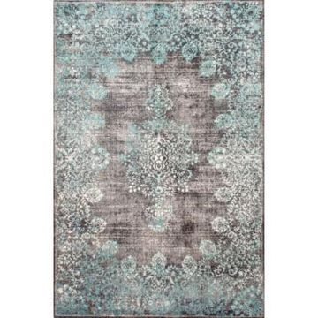 nuLoom Norbul Vintage-Inspired Floral Lacy Teal 5' x 8' Area Rug