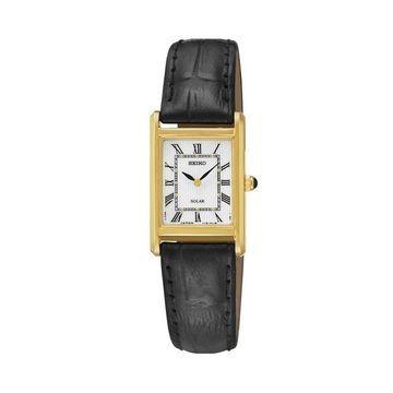 Seiko Women's Solar Leather Watch - SUP250
