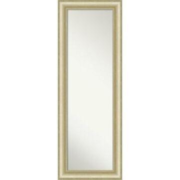 "Amanti Art Textured Light Gold-tone on The Door Full Length Mirror, 19"" x 53"""
