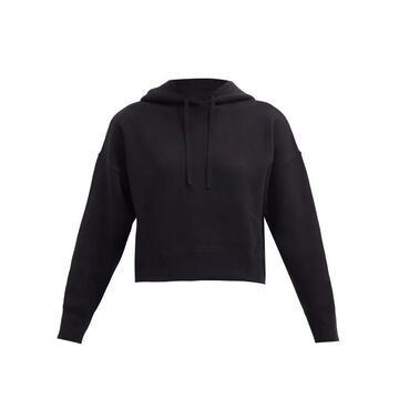 Valentino - Cropped Jersey Hooded Sweatshirt - Womens - Black