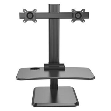 Dual Monitor Sit-Stand Height Adjustable Workstation Desk Mount