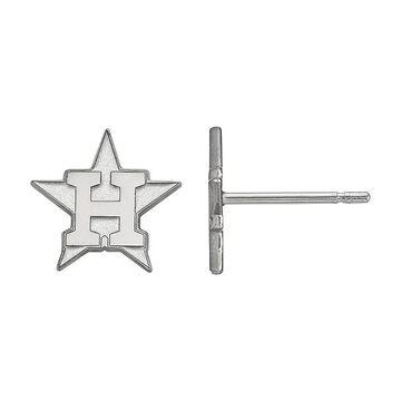 LogoArt 10K Gold Houston Astros Stud Earrings, Women's, Silver