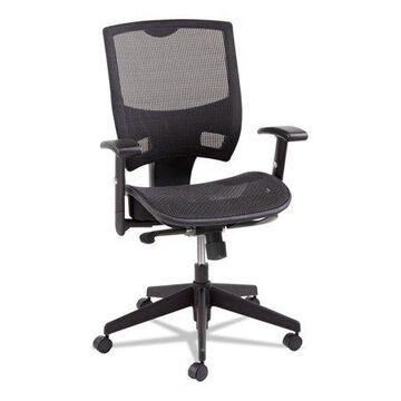 Alera Alera Epoch Series Suspension Mesh Multifunction Chair, Supports Up To 275 Lbs, Black Seat/black Back, Black Base