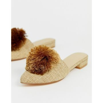 Truffle Collection pom pom mules