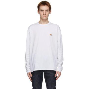 Maison Kitsune White Fox Head Regular Long Sleeve T-Shirt