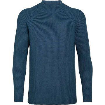 Icebreaker Men's Hillock Funnel Neck Sweater - Medium - Prussian Blue