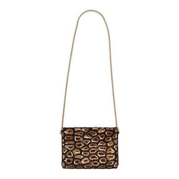 San Diego Hat Company Women's Sequin Animal Print Clutch BSB3548 Black - US Women's One Size (Size None)