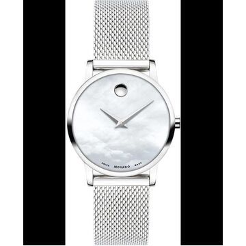 Movado Museum Classic Mother of Pearl Dial Stainless Steel Women's Watch 607350 0607350