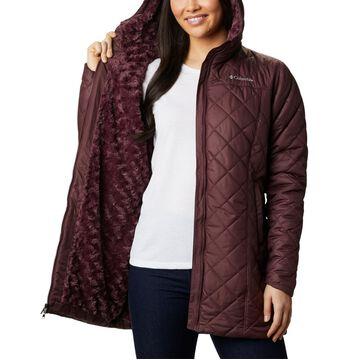 Columbia Women's Copper Crest Hooded Fleece-Lined Mid-Length Coat