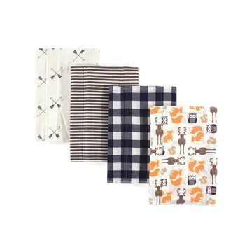 Hudson Baby Boys' Burpcloths Forest - Forest Flannel Burp Cloth Set