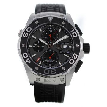 Tag Heuer Aquaracer Black Steel Watches