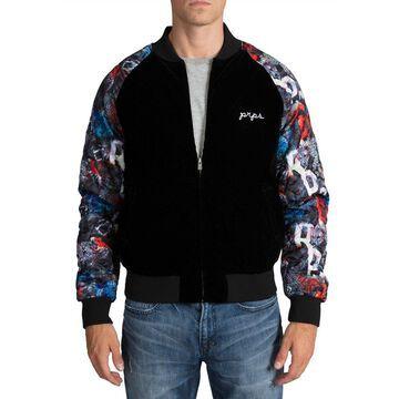 Men's Crushed Velvet Bomber Jacket
