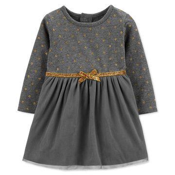 Baby Girls Glitter Dot Dress