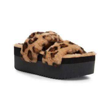 Madden Girl Furbeee Platform Slippers