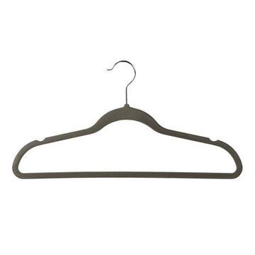 Econoco - HSL17PG50 - Grey Velvet Suit Hanger with Notches and Crossbar - Sold in Pack of 50