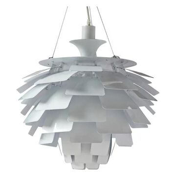 Fine Mod Imports Artichoke Leaf Lamp, White