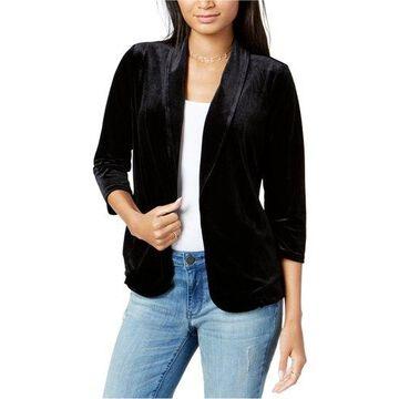 maison Jules Womens Velvet Blazer Jacket