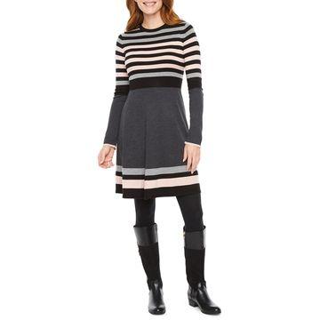 Jessica Howard Long Sleeve Sweater Dress
