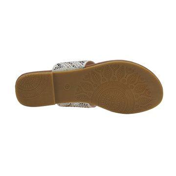 Olivia Miller Ladies T-Strap Slide Sandal