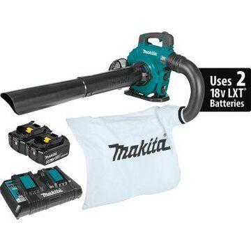 Makita 18V X2 36V LXT Lithium-Ion Brushless Cordless Blower Kit with Vacuum Attachment Kit, XBU04PTV