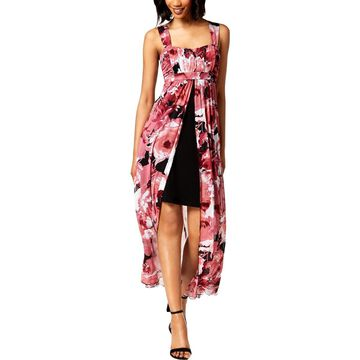 Connected Apparel Womens Printed Sleeveless Maxi Dress