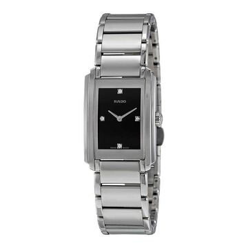 Rado Integral Black Dial Stainless Steel Ladies Watch R20213713