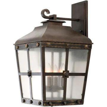Kalco Sherwood 4-Light Outdoor Wall Light in Aged Bronze